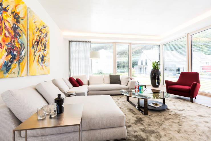 modern Living room by Die HausManufaktur GmbH