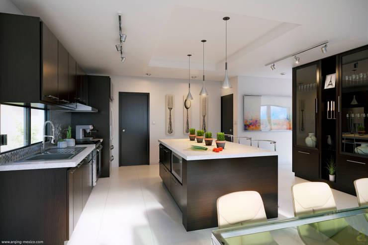 Cocinas de estilo minimalista por arQing