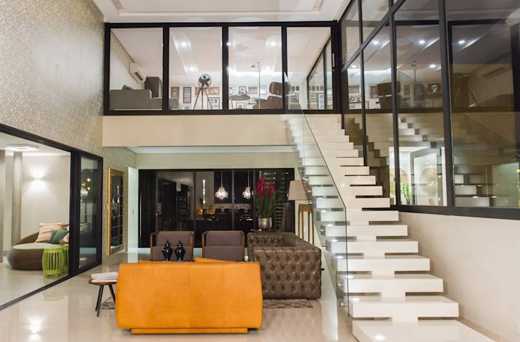 Mezanino Com Sala De Tv ~ casas com mezaninos incríveis!