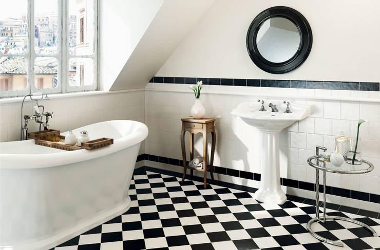 27 interni shabby chic irresistibili da copiare - Piastrelle diamantate bagno ...