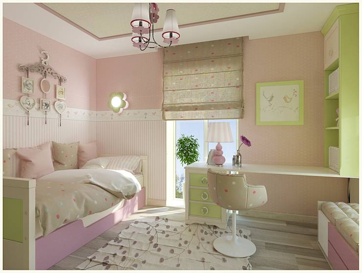 kinderzimmer f r m dchen und jugendzimmer berlin 2015 von nk line homify. Black Bedroom Furniture Sets. Home Design Ideas