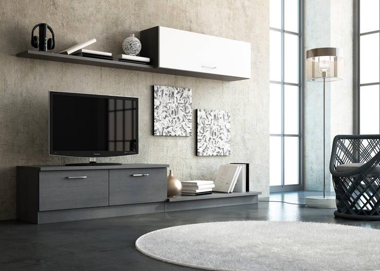 Composición jandula 22 Salones de estilo moderno de Muebles 1 Click