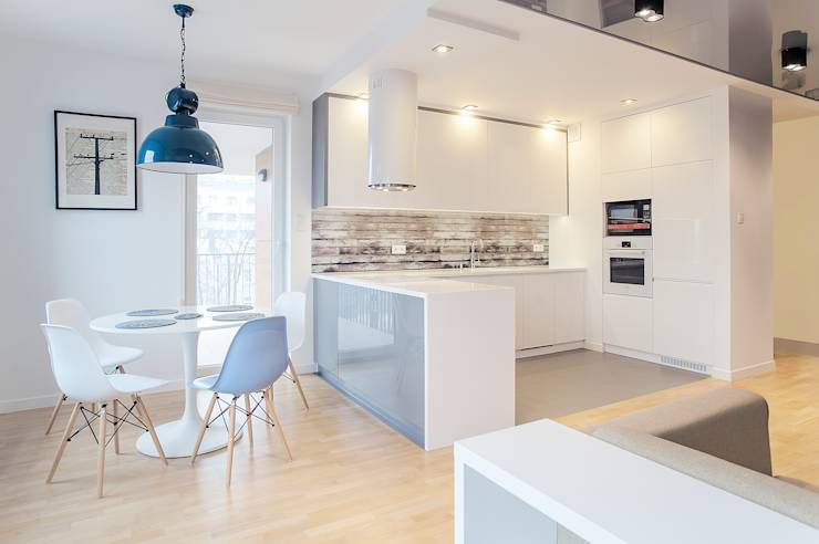Cocinas de estilo escandinavo por DK architektura wnętrz