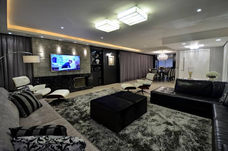 Sala De Estar Cor Cinza ~ salas de estar de cor cinza