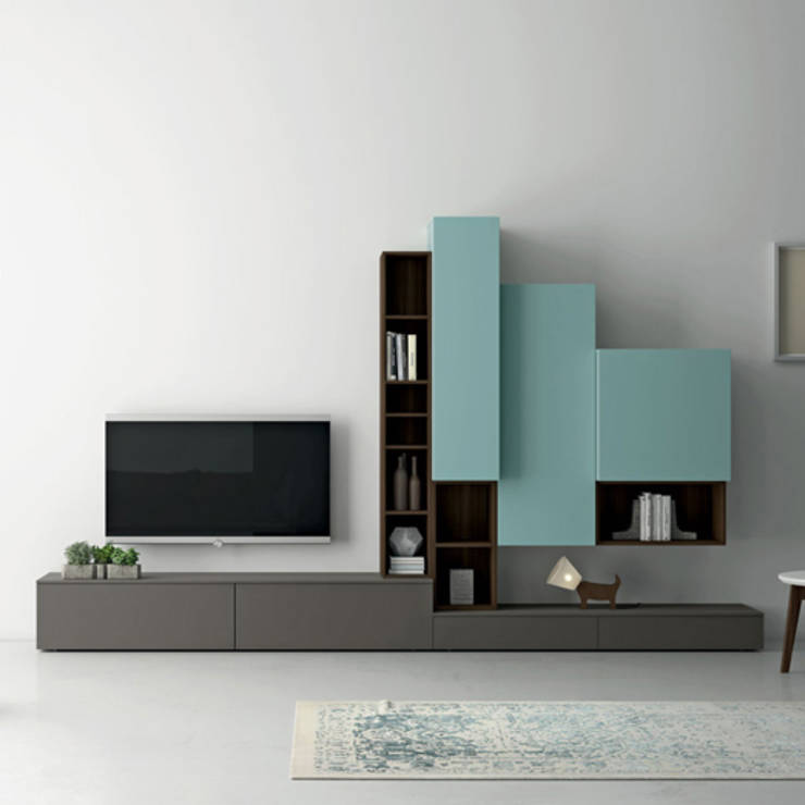 Tv media units by my italian living homify for Contemporary tv media units