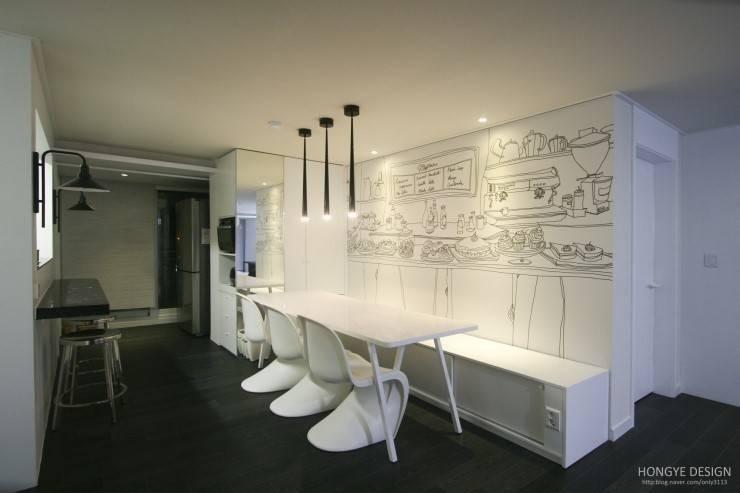 homify 360º – 평범한 아파트의 세련된 실내 디자인: 블랙 앤 ...