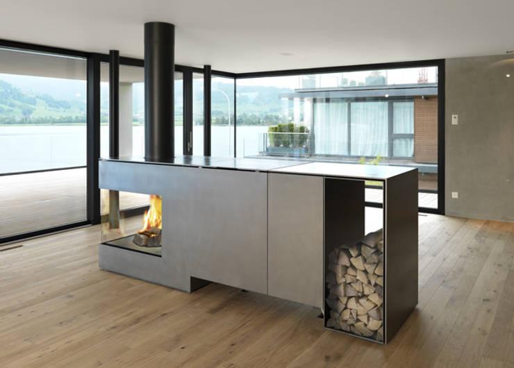 kamine als raumteiler. Black Bedroom Furniture Sets. Home Design Ideas