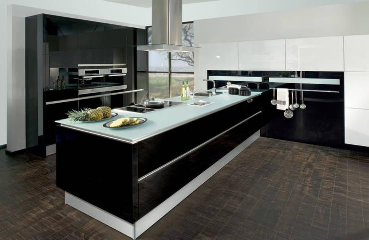 Schwarz-weiße Küchen