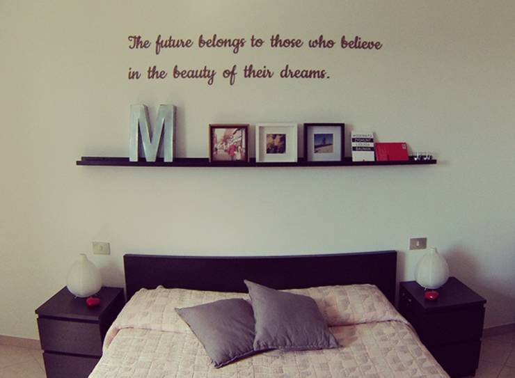 Stencil per pareti ecco come decorare risparmiando - Disegni parete camera da letto ...