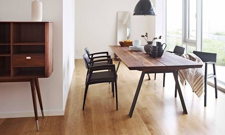 Plank table de repas design scandinave by le studio des collections homify - Table extensible scandinave ...