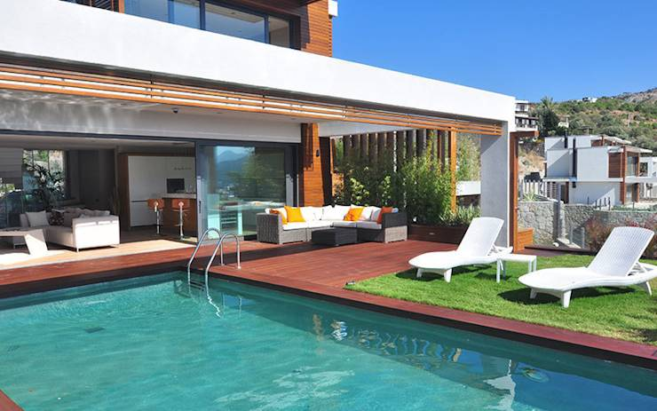 Terrazas y patios con alberca 10 ideas sensacionales for Terrazas zen fotos