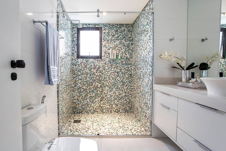 translation missing: eg.style.حمام.modern حمام تنفيذ Amanda Pinheiro Design de interiores