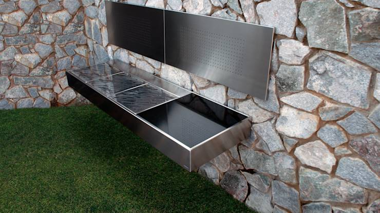16 asadores y hornos de le a que te van a encantar para - Barbacoa minimalista ...