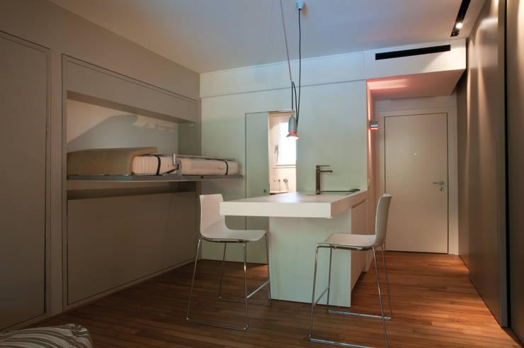 8 appartamenti spettacolari con idee salvaspazio for Negozio di metallo con appartamento