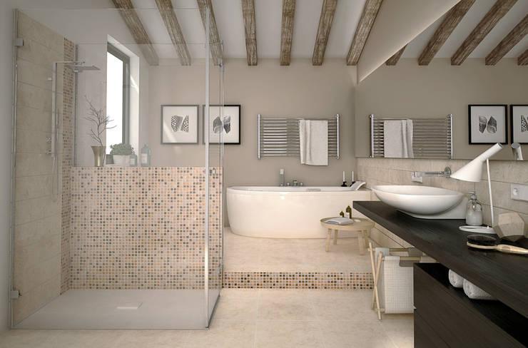 7 soluzioni per schermare la doccia con stile - Mosaico bagno idee ...