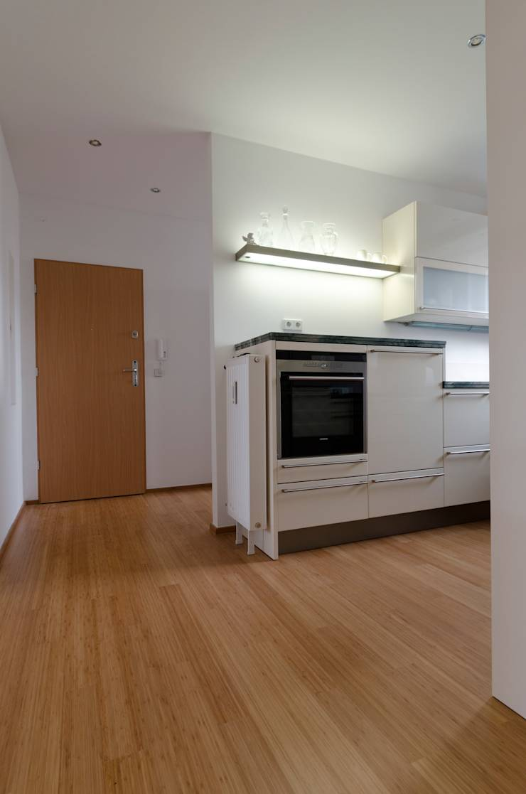 bambus stabparkett in k che und bad von bambus komfort parkett homify. Black Bedroom Furniture Sets. Home Design Ideas