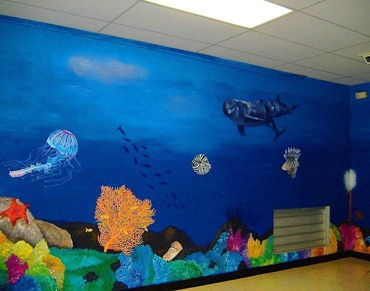 6 mural ideas for a child 39 s room for Underwater mural ideas