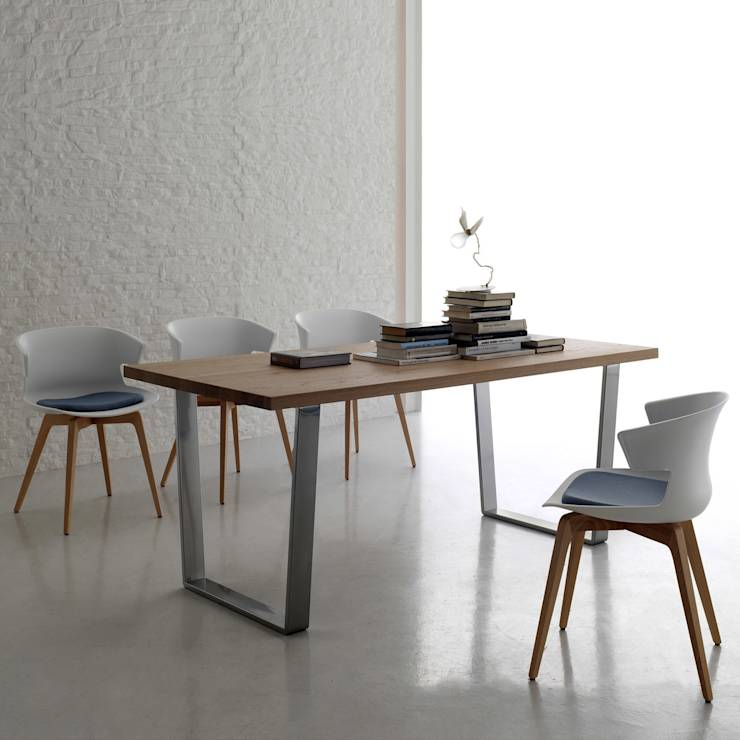 wood 39 contemporary dining table by santa lucia modern dining room by