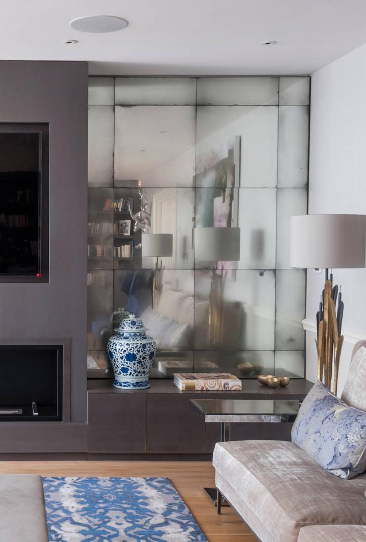 Panelled Room: Antiqued Mirror Glass By Rupert Bevan Ltd