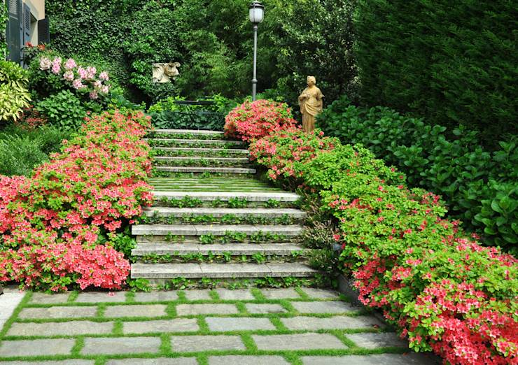 progetto giardino residenziale: Giardino in stile in stile Eclettico ...