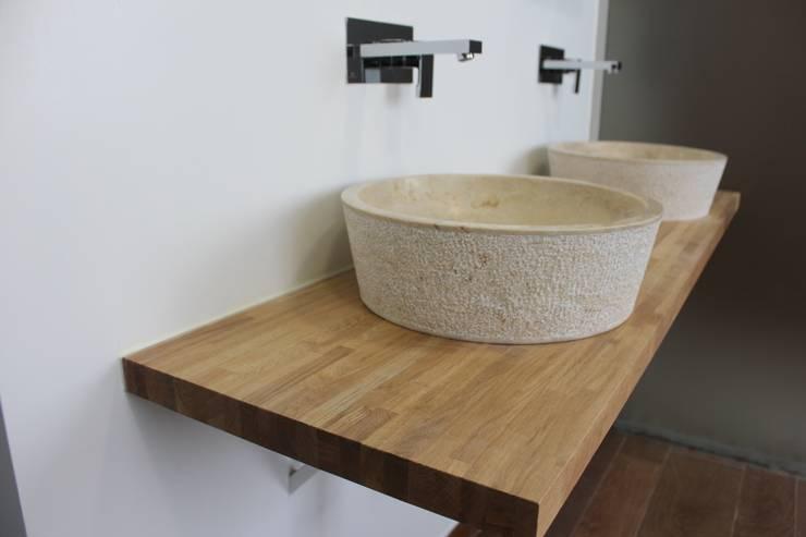 Lavabos sobre encimeras sencillez y elegancia en el aseo - Encimera para lavabo ...