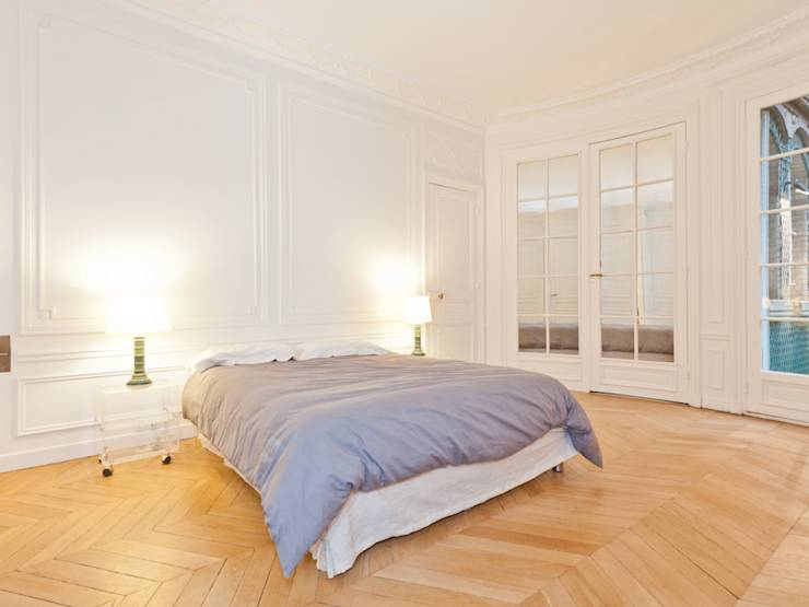 D coration d 39 un appartement haussmannien par xavier for Appartement haussmannien decoration