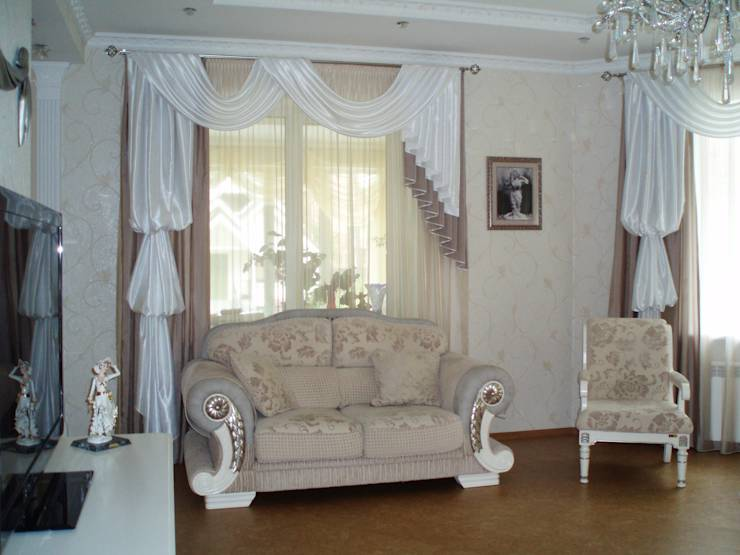 Tende per il salotto una per ogni stile for Tende per soggiorno classico
