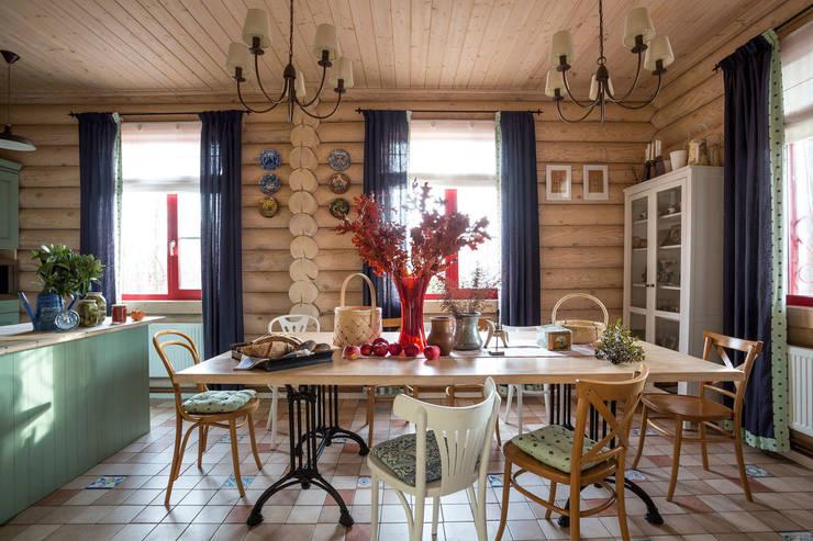 country Dining room by Tatiana Ivanova Design