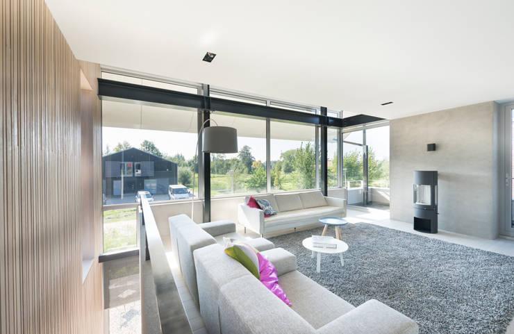Woonkamer Met Vide : Woonkamer met balkon en uitzicht: moderne ...
