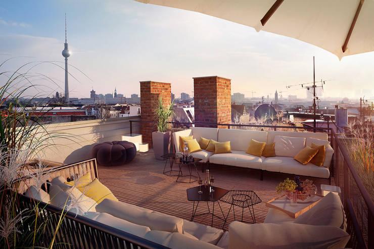 Dachterrassen beleuchtung: dachterrasse mit outdoor küche ideen ...
