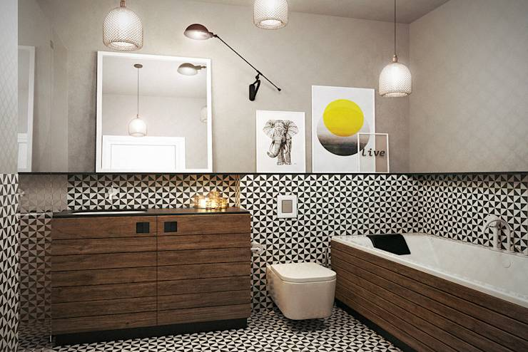 Baños de estilo escandinavo de razoo-architekci