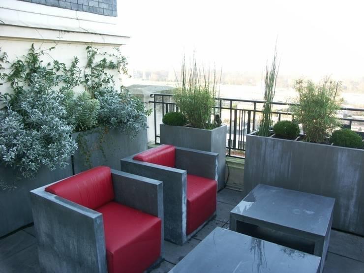 Jardineras de cemento perfectas para patios y terrazas for Idee terrasse contemporaine