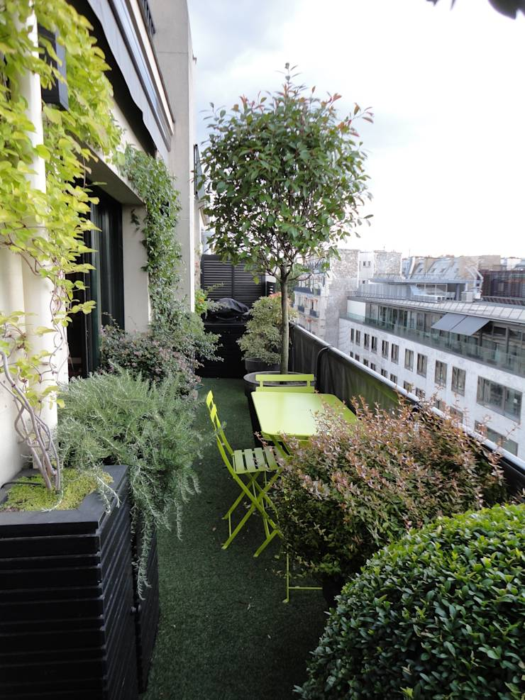 Balcon paris 7 par fiorellino paysagiste homify - Amenagement balcon paris ...