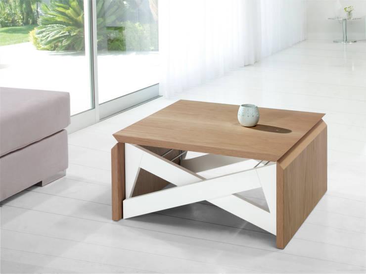 Mesas plegables grandes ideas para espacios peque os for Comedor hexagonal