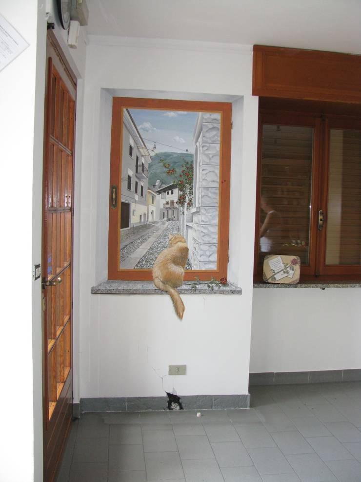 Trompe l 39 oeil con finta finestra di cinzia perino art homify - Trompe l oeil finestra ...