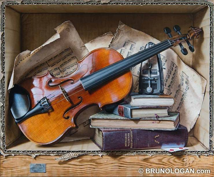 Peinture en trompe l 39 oeil de bruno logan par peinture en - Trompe l oeil peinture ...
