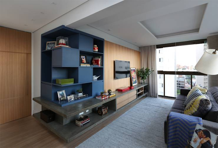translation missing: id.style.ruang-keluarga.modern Ruang Keluarga by MANDRIL ARQUITETURA E INTERIORES