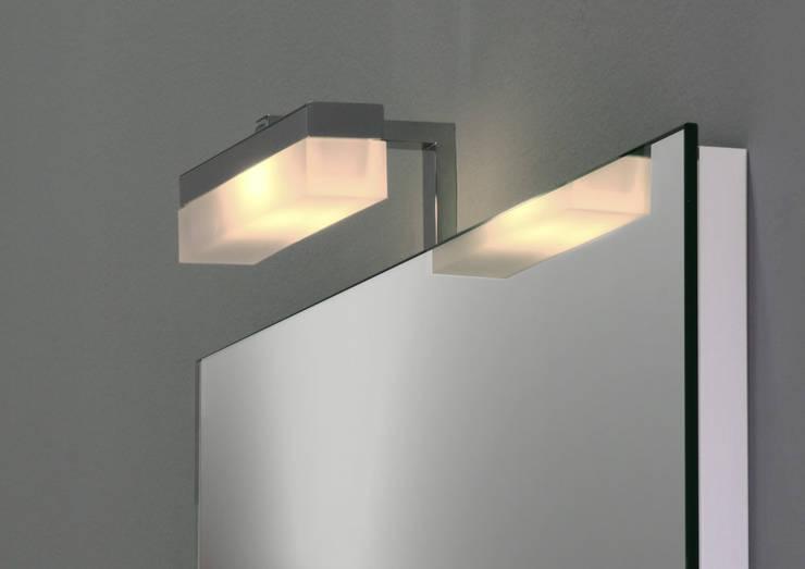 badspiegel mit spiegelleuchte di schreiber licht design. Black Bedroom Furniture Sets. Home Design Ideas