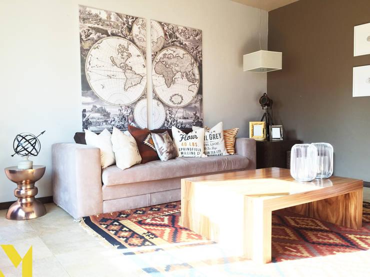 Salas / recibidores de estilo moderno por MM estudio interior