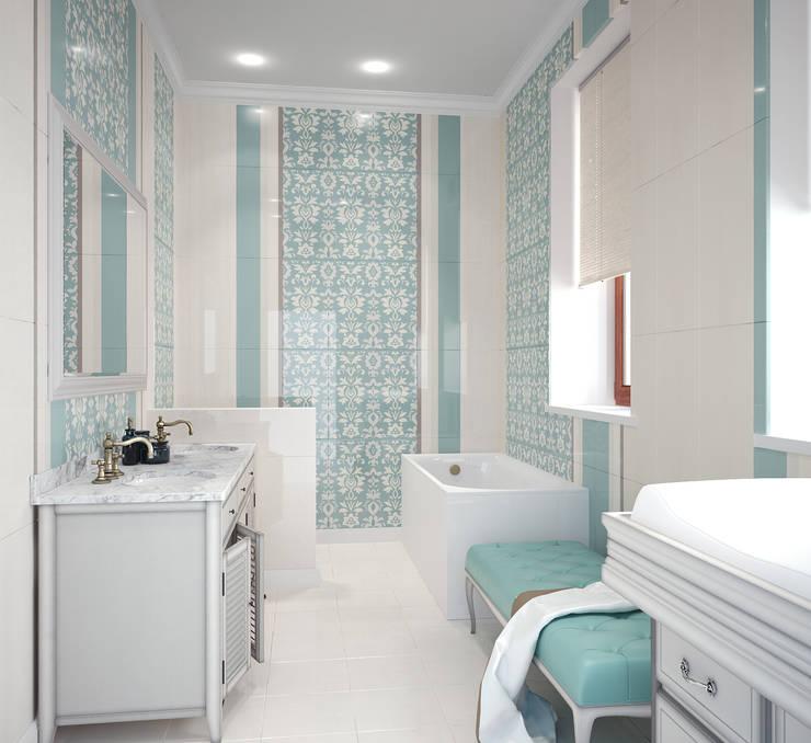 Baños Estilo Eclectico:10 estupendas combinaciones de azulejos de baño