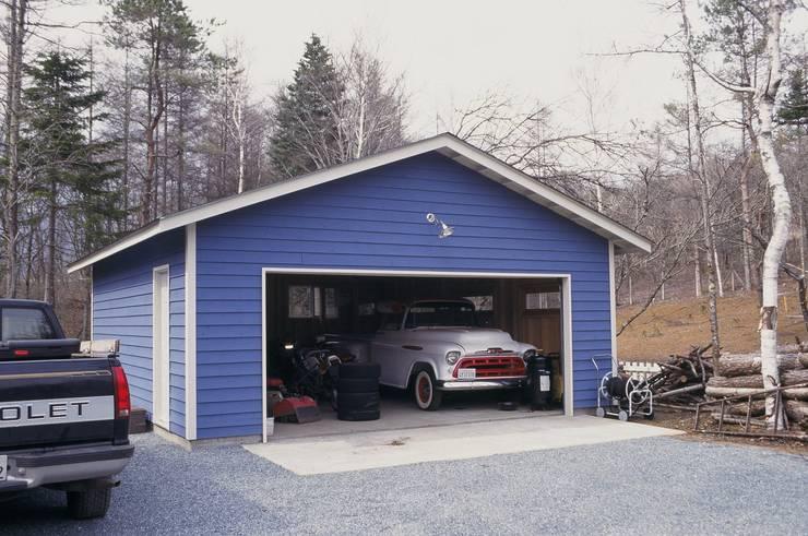10 fant sticos garajes con madera for Garajes para carros