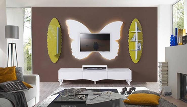 Füme Mobilya - Kelebek Tv hardal: modern tarz Oturma Odası