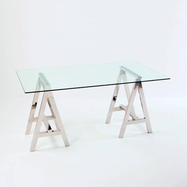 Estilos diferentes para tu mesa de escritorio - Mesas escritorio de cristal ...