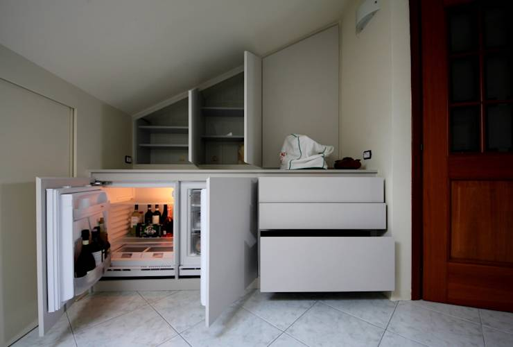 Arredo mansarda moderno arredamento cucina in mansarda for Arredo mansarda moderno