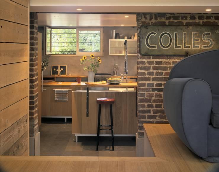 Rivestimenti murali in pietra per interni ed esterni da - Cucina in mattoni faccia vista ...