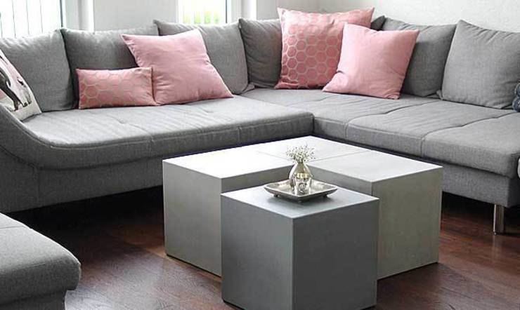 couchtisch aus beton cubes von form in funktion urbandesigners homify. Black Bedroom Furniture Sets. Home Design Ideas