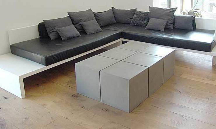 couchtisch aus beton cubes von form in funktion. Black Bedroom Furniture Sets. Home Design Ideas