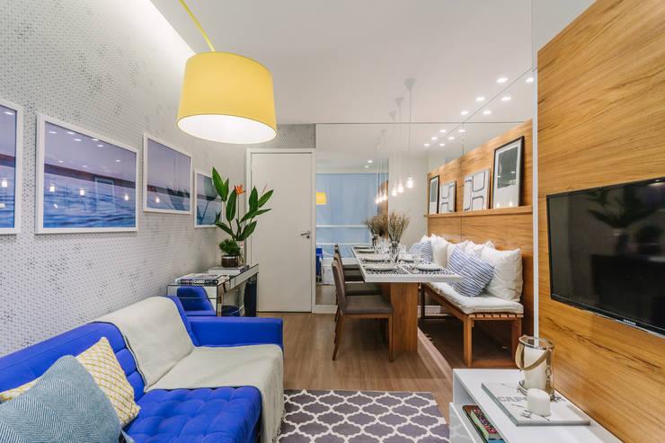 Apartamento Bela Vista: Salas de estar modernas por STUDIO LN