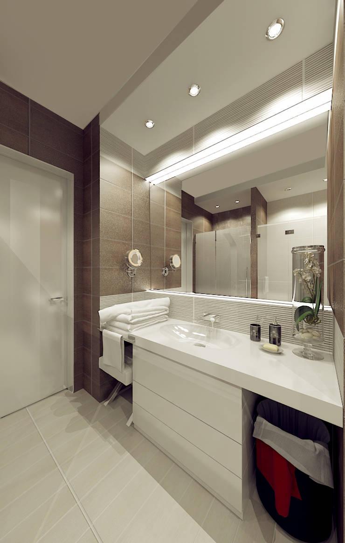 Авеню 77-11: Ванные комнаты в translation missing: ru.style.Ванные-комнаты.eklektichnyy. Автор - ООО 'Студио-ТА'