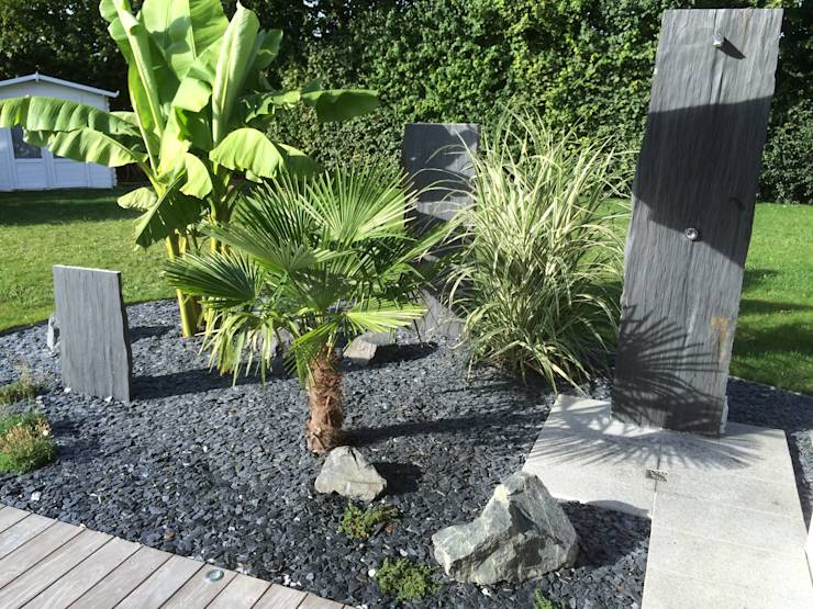 7 id es de jardin de fa ade for Plante contemporaine